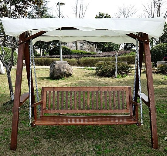 3 seater wooden garden swing chair seat hammock cream   173 99 3 seater wooden garden swing chair seat hammock cream   173 99      rh   pinterest