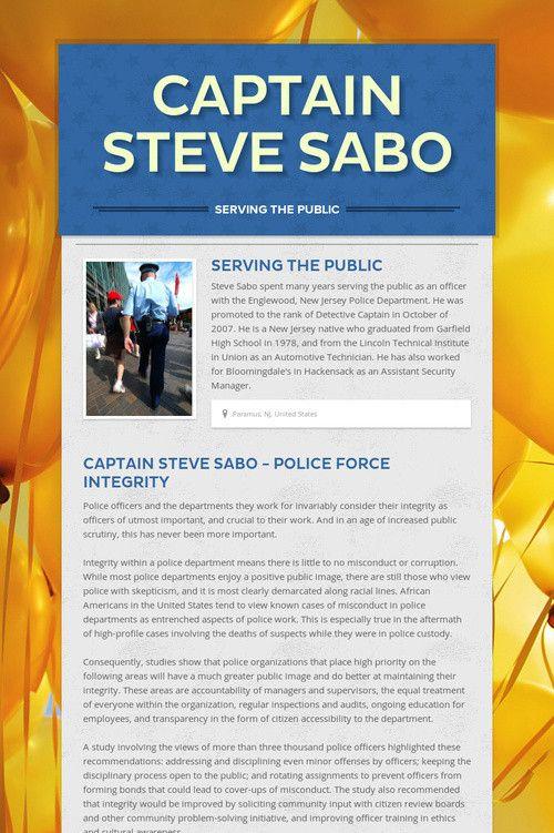 Captain Steve Sabo Captainstevesab On Pinterest