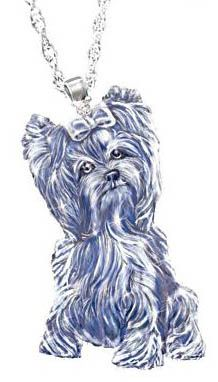 Yorkie yorkshire terrier jewelry handcrafted dog breed crystals yorkie yorkshire terrier jewelry handcrafted dog breed crystals and diamonds pendant necklace aloadofball Gallery