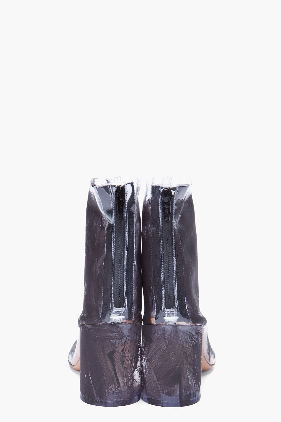 MAISON MARTIN MARGIELA Painted Transparent Boots