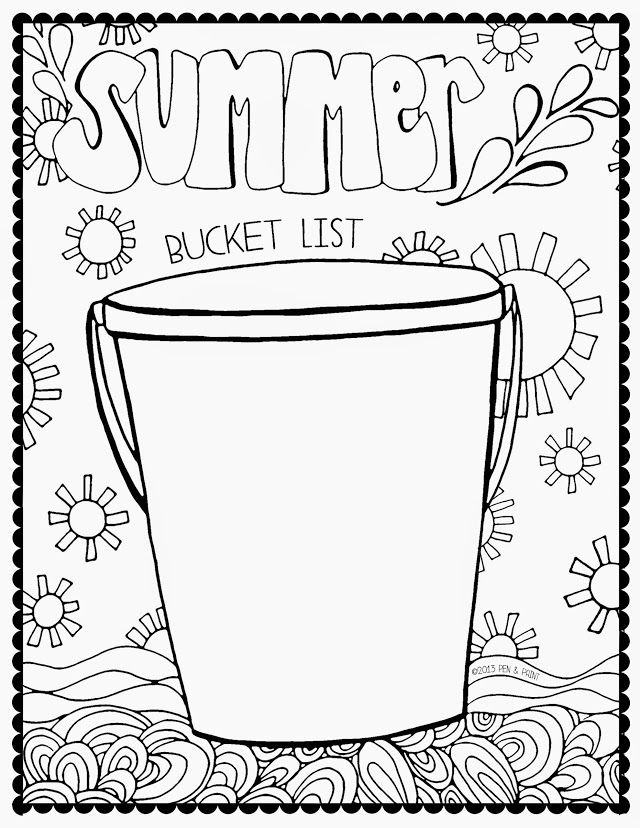 Album Archive Summer Bucket Lists Summer Coloring Pages
