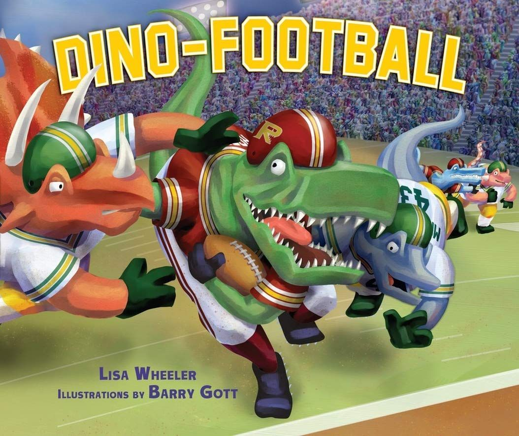Planteating dinosaurs face meateating dinosaurs in a