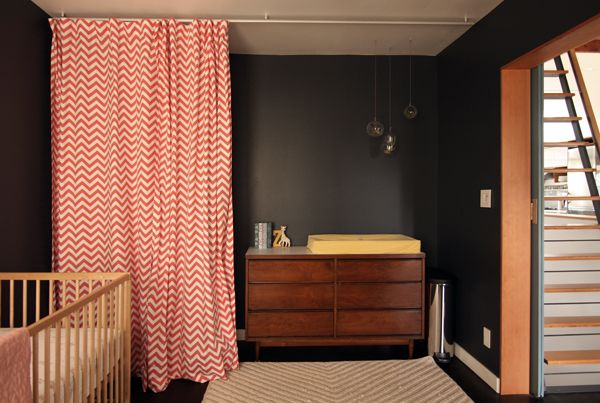 Hang Curtains From Ceiling With Kvartal Rail From Ikea (in Front Of Closets)