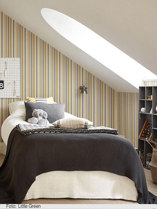 Streifentapeten machen kleine Zimmer größer Mehr Details zu Tapete
