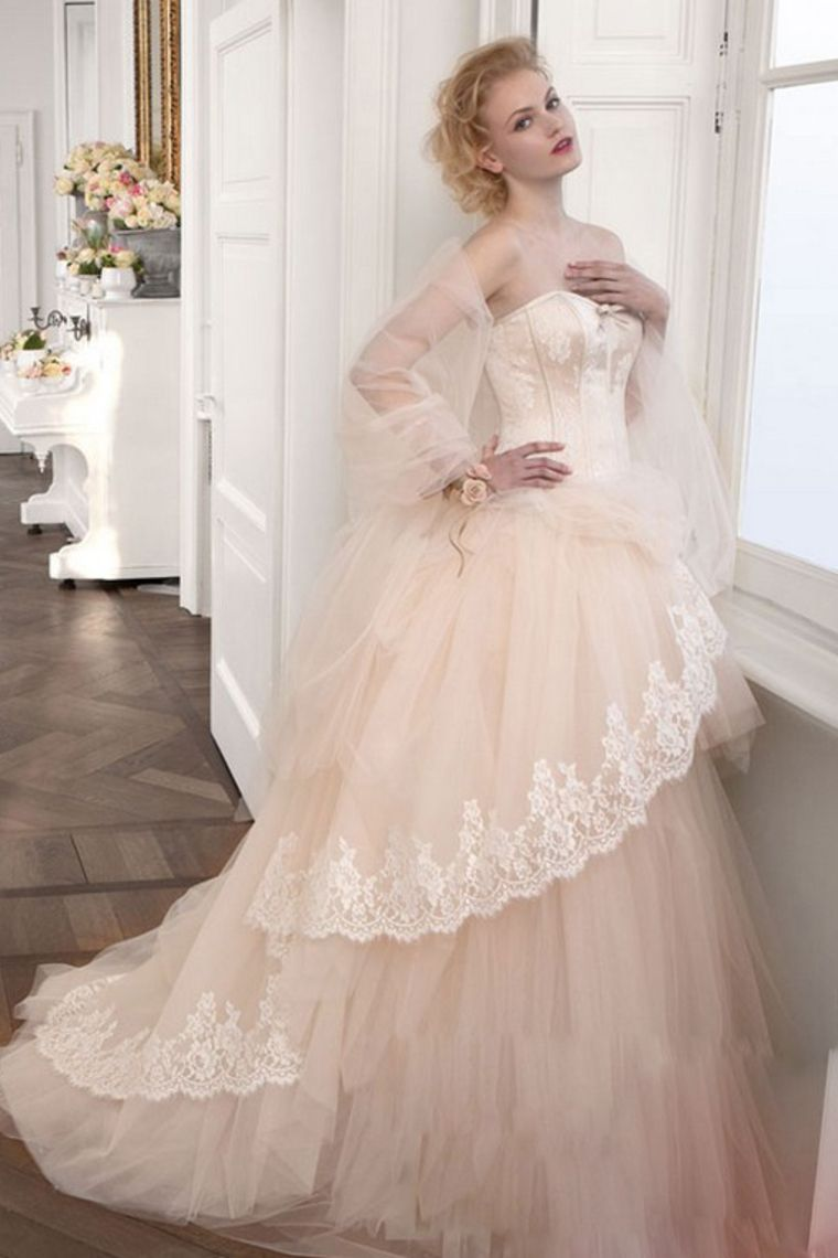 13 Wedding Dresses Ball Gown Sweetheart Sweep/Brush Train Tulle