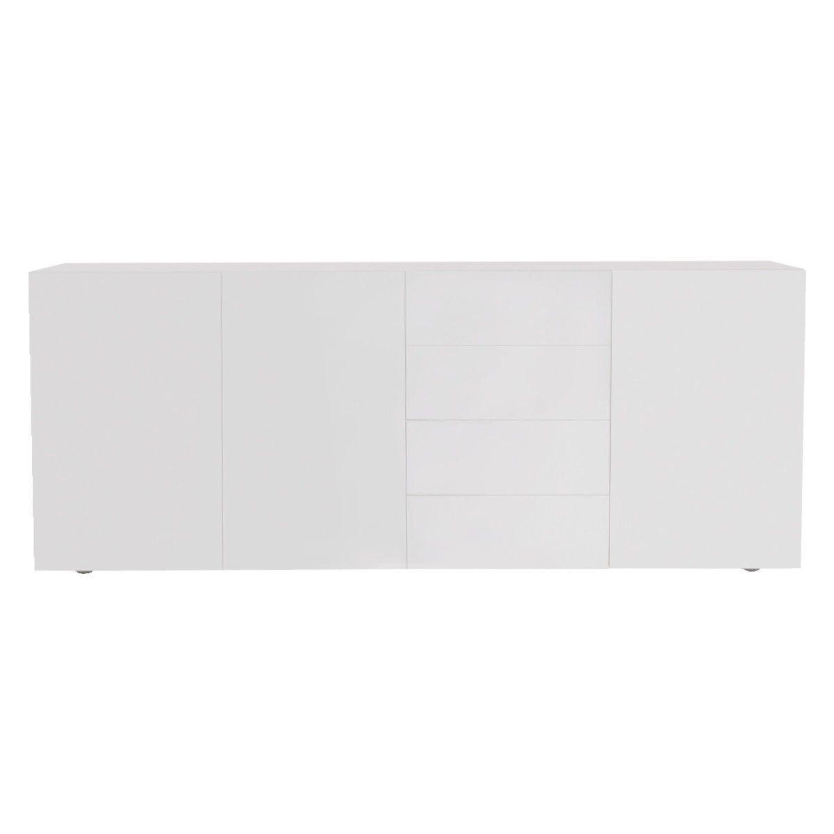 ASPEN White high gloss sideboard | High gloss, Aspen and Gray interior