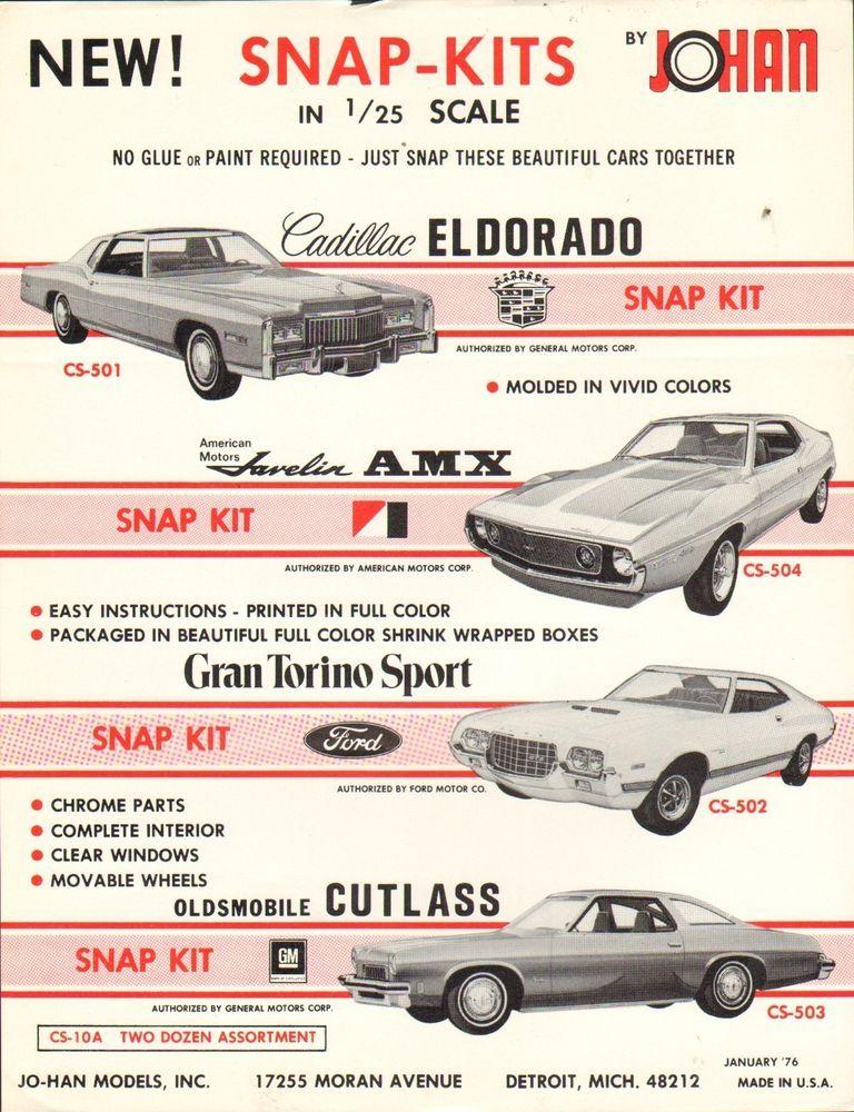Vintage Ad Sheet 1890 Johan Model Car Snap Kit Ebay Model Cars
