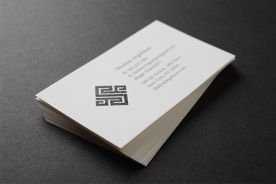 Raised Ink Business Cards with a nice thick stock! Contact us at ...