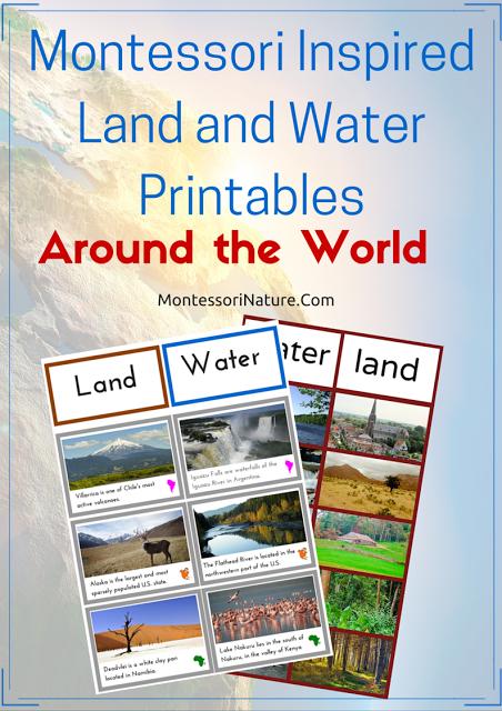 Montessori Focus Land, Water, Air Activity Montessori