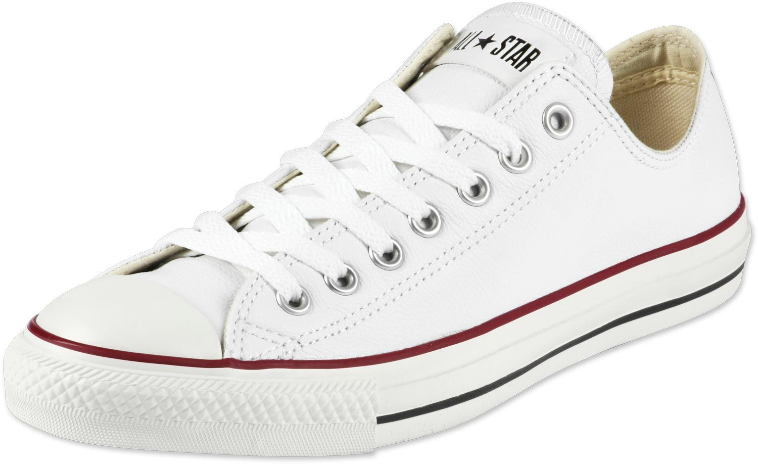 converse all star ox leather schuhe weiss 1520 | SLE Music