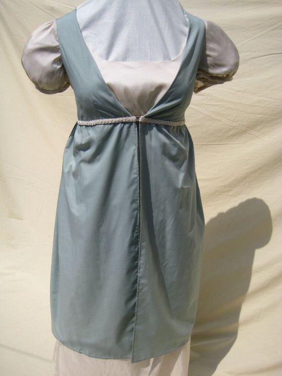 Regency Dress.Open Robe, Pelisse, Over Gown. Jane Austen. EMMA  MOVIE REPRODUCTION via Etsy