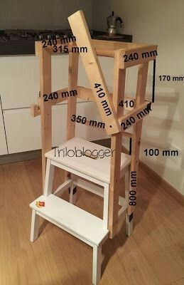 Little Kitchen Helper Step Stool Plans Diy Kids Kitchen