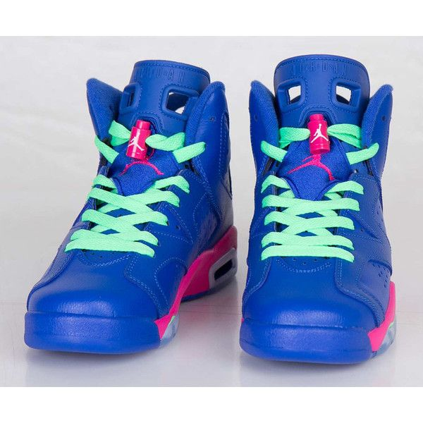3bff356b7aef SHOE SNEAKER DIVA NICKI MINAJ  ANACONDA  ROYAL BLUE NIKE AIR JORDAN... ❤  liked on Polyvore featuring shoes