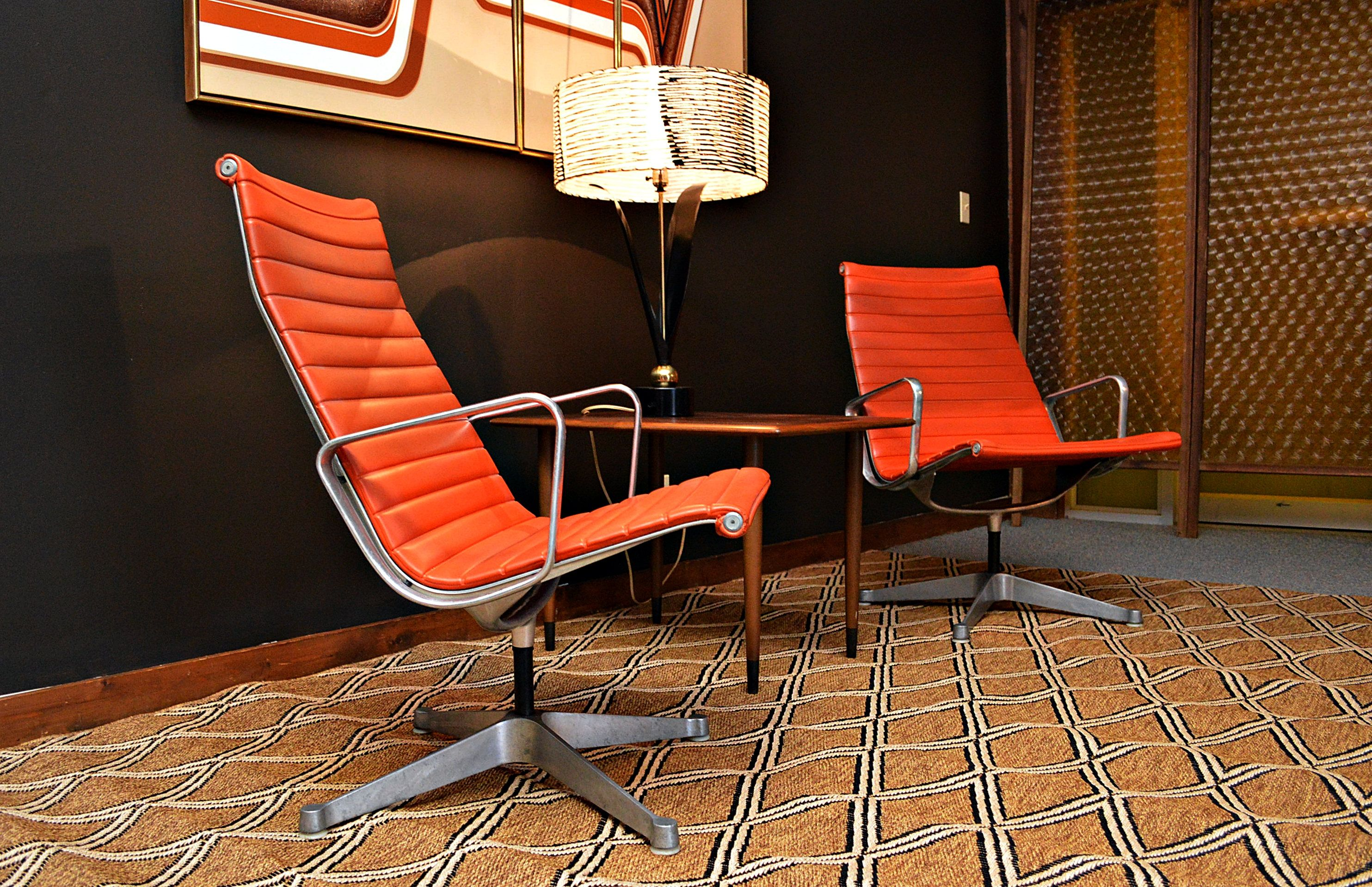 Authentic Pair of Mid Century Eames for Herman Miller Aluminum Group
