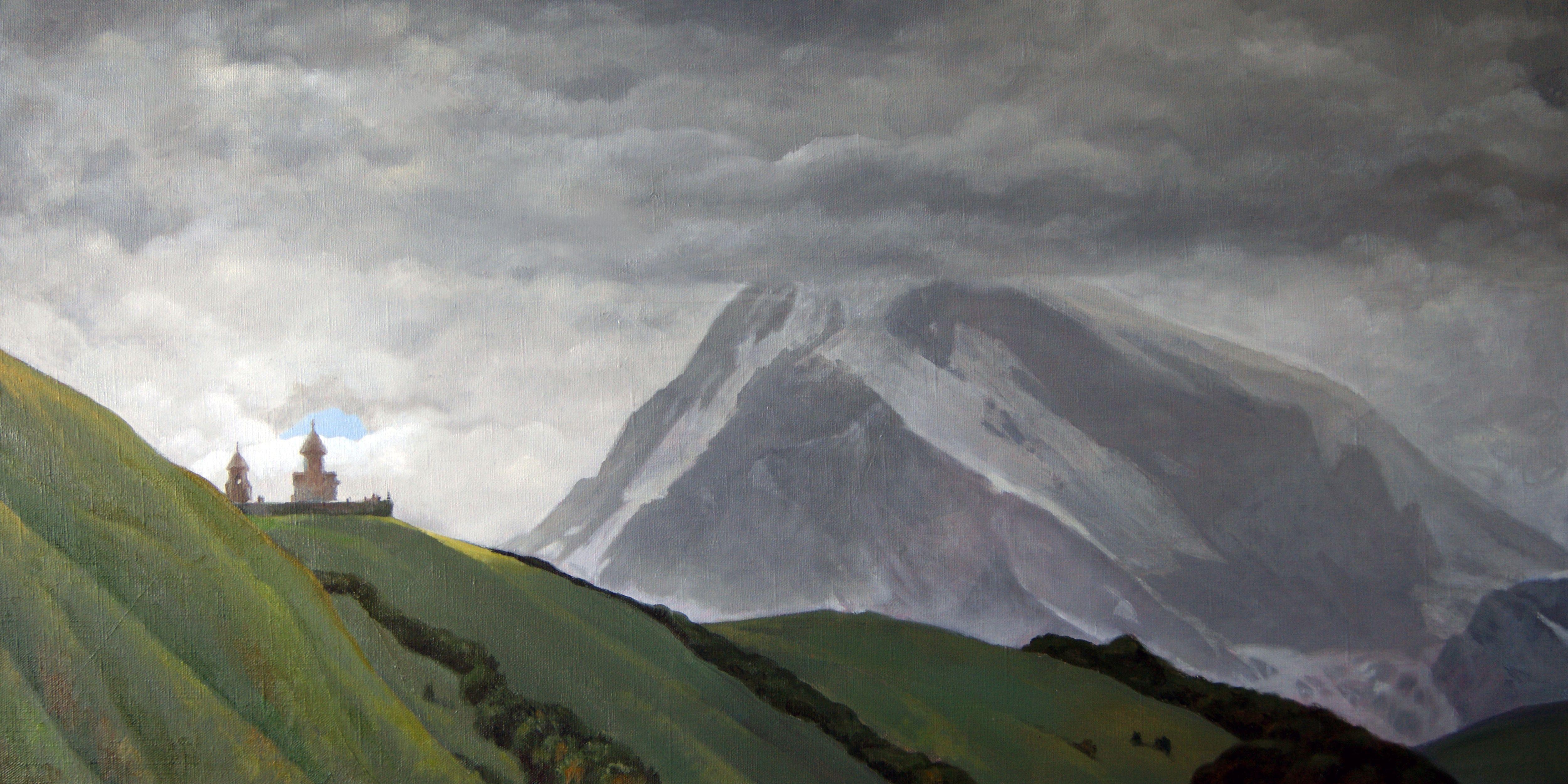 Alan Albeg: Kazbek. Gergeti monastery
