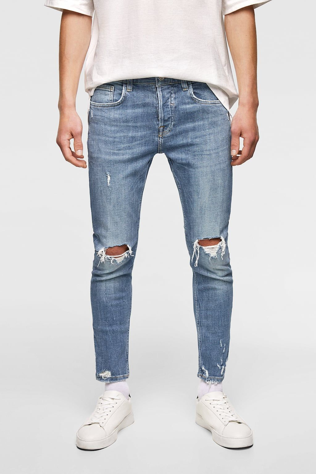 dd657556b1 Image 2 of RAW EDGE SKINNY JEANS from Zara | Outfits, clothes ...
