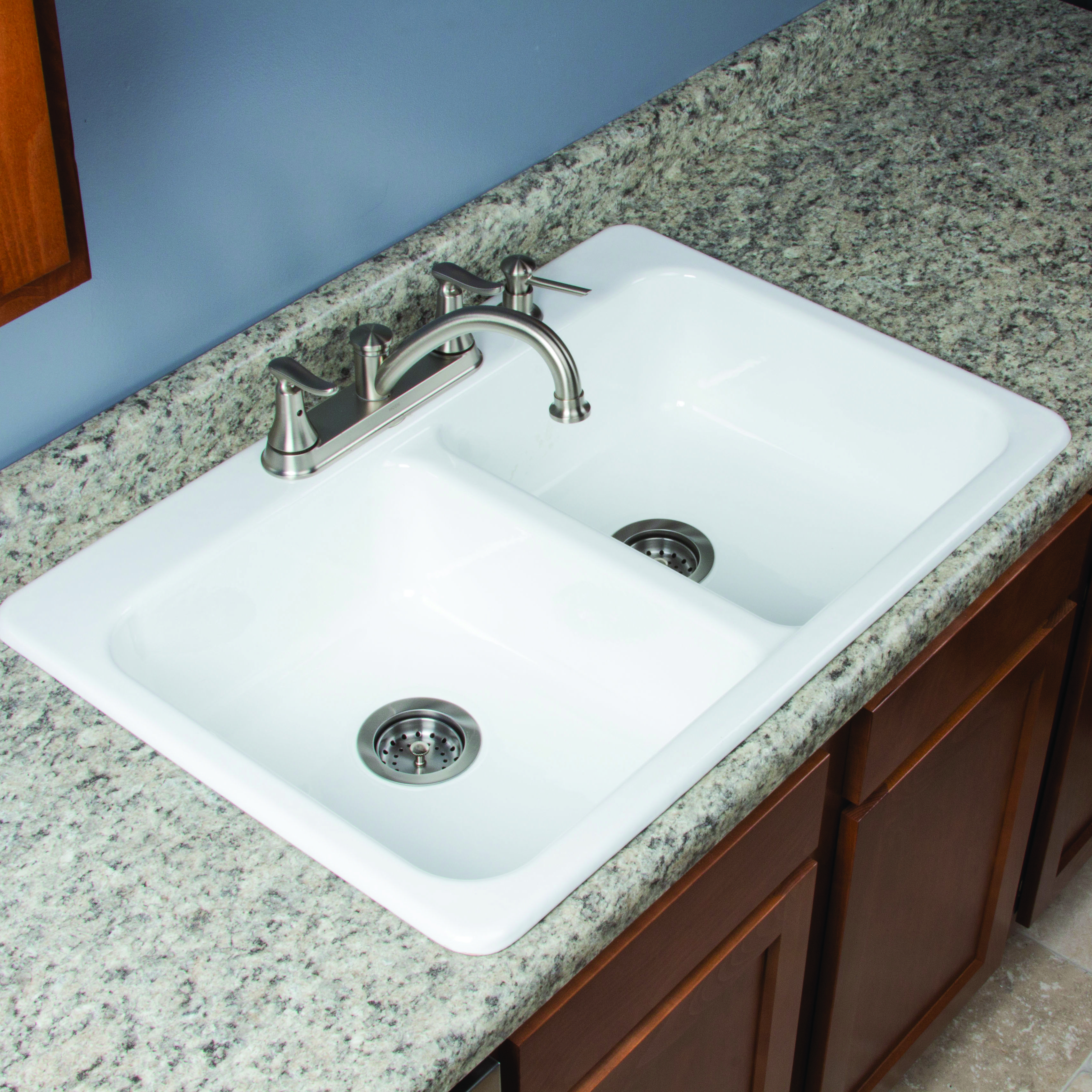 Ceco Kitchen Sinks Made of durable cast iron and coated with two coats of fine made of durable cast iron and coated with two coats of fine porcelain enamel the ceco daytona self rimming kitchen sink is made to last for years and bring workwithnaturefo