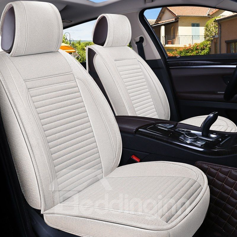 Simple Design Business Style Stripe Pattern Universal Car Seat Cover