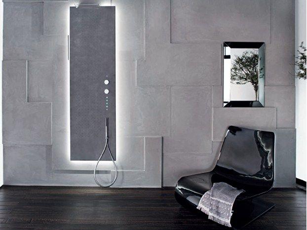 Il pannello doccia Acquapura di Fantini è un piano