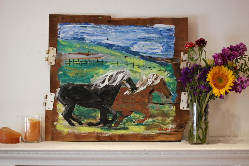 """Warmblood Horses Painting """"Winchester and Alley"""" on ..."""
