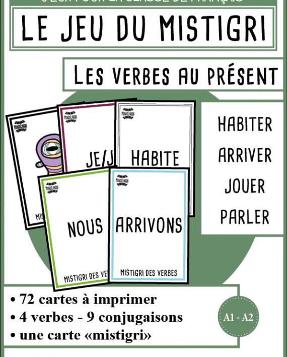 Mistigri Des Verbes Habiter Arriver Jouer Parler Mondolinguo Francais Jeux De Grammaire Fle Vocabulaire Francais