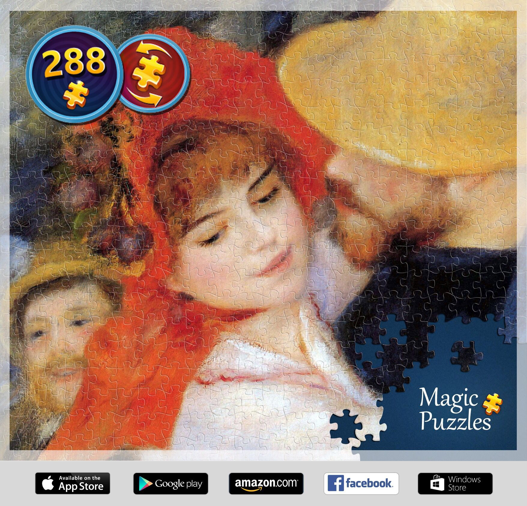 I've just solved this puzzle in the Magic Jigsaw Puzzles