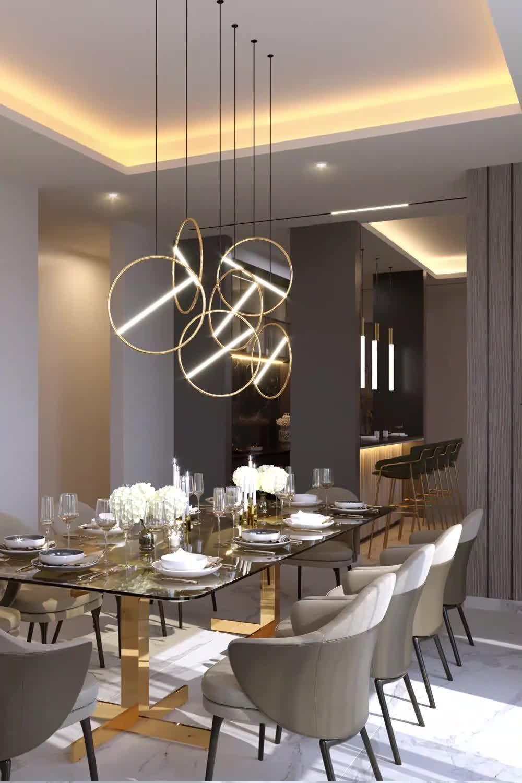 Adorable apartmetn dining room interiors videos from Spazio Dubai