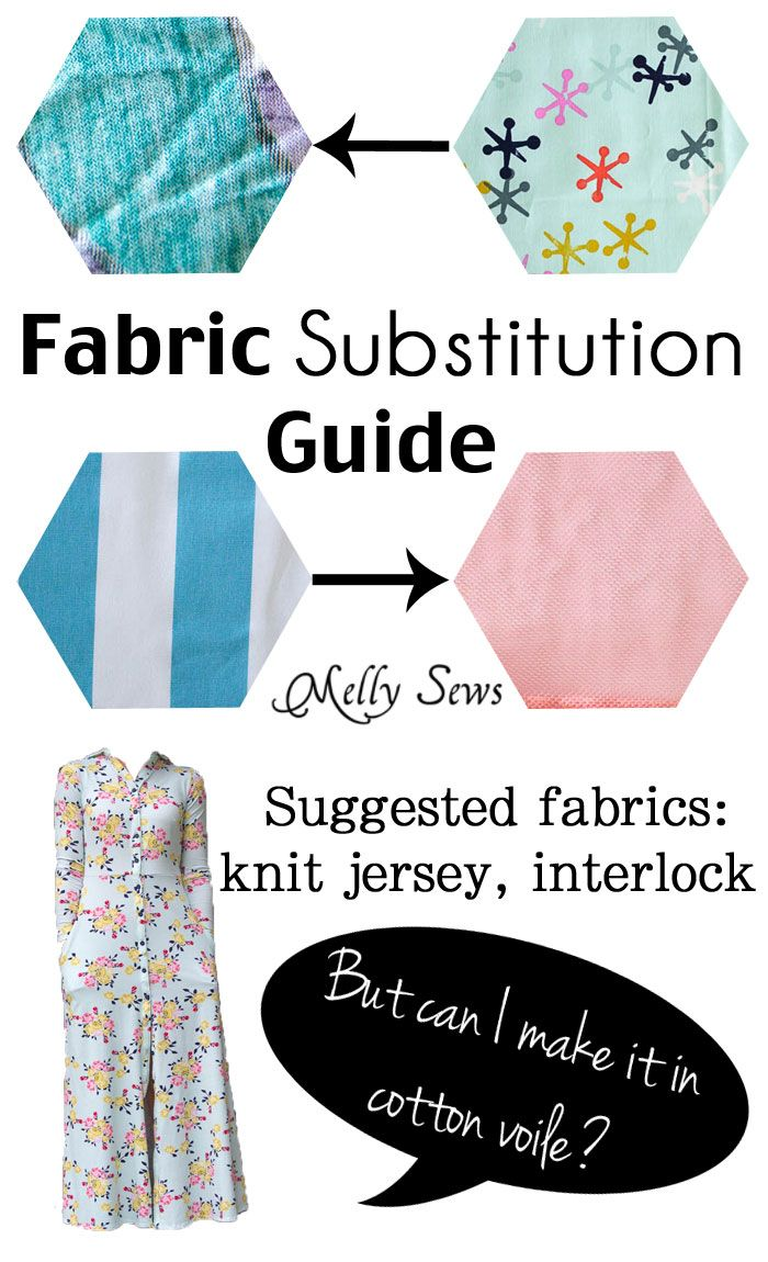 Fabric Substitutions - Can I Sew a Pattern for Knit with Woven ...