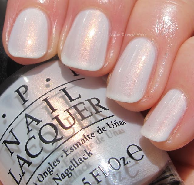 Gel Nail Polish Trends: OPI Oh My Majesty!, A Glowing Soft White With Tons Of
