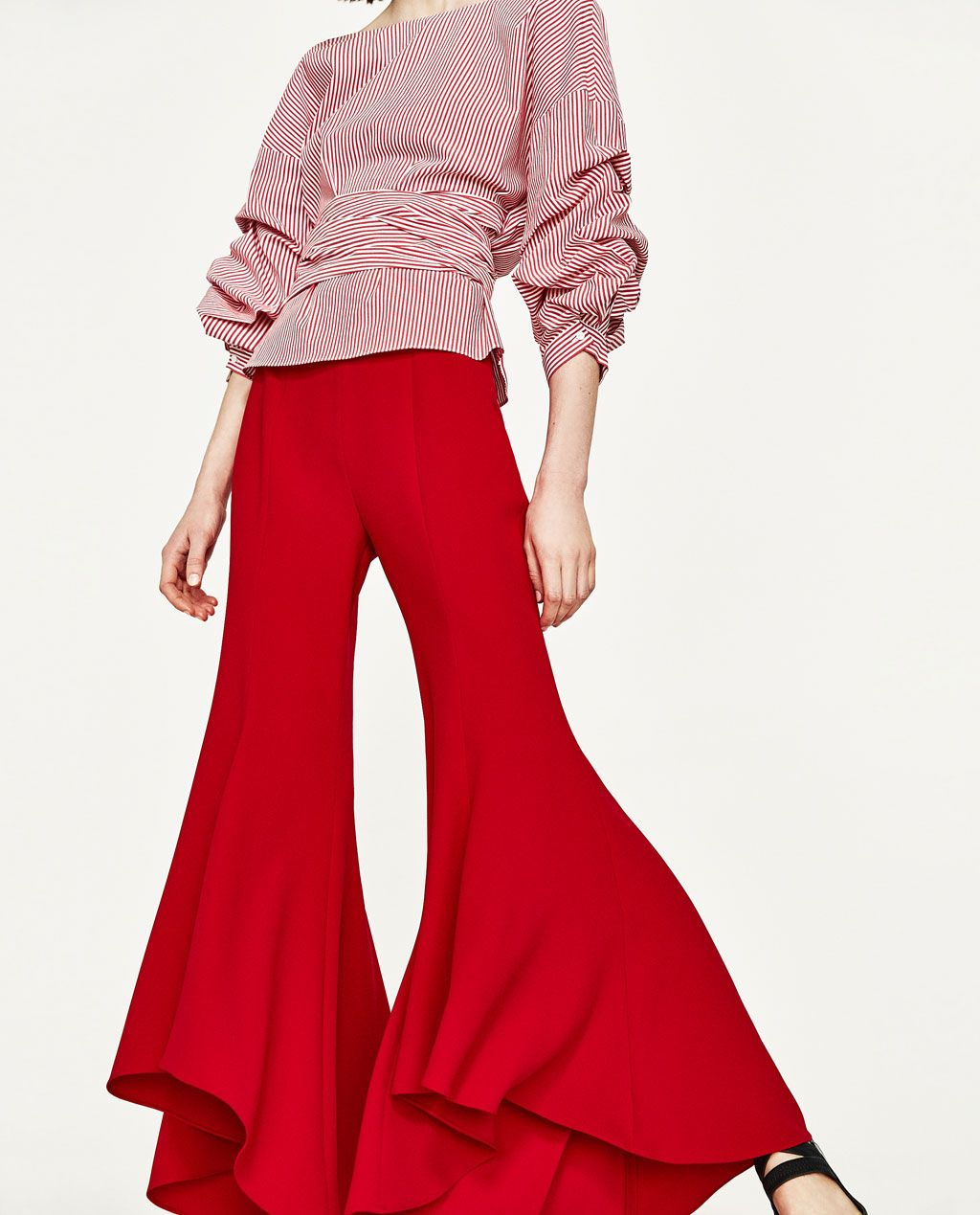 bdf6652fc633 Image 4 of ASYMMETRIC FLARE TROUSERS from Zara | Things to Wear ...