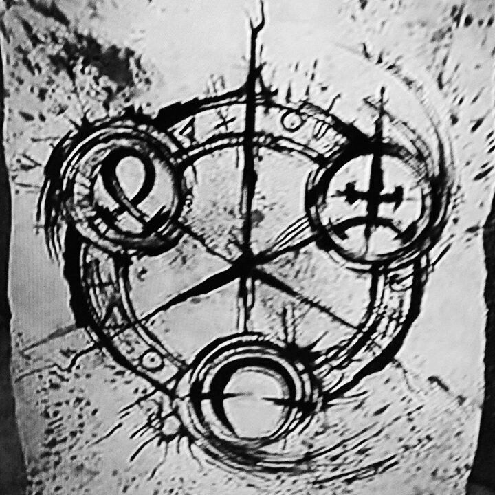the symbol that 6 from the animated movie 9 was drawing