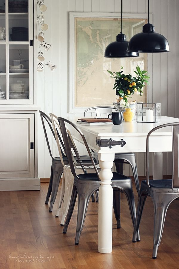 From Beatehemsborg Love The Metal On Table Corner Maybe Use A Big Door Grey Dining RoomsLiving