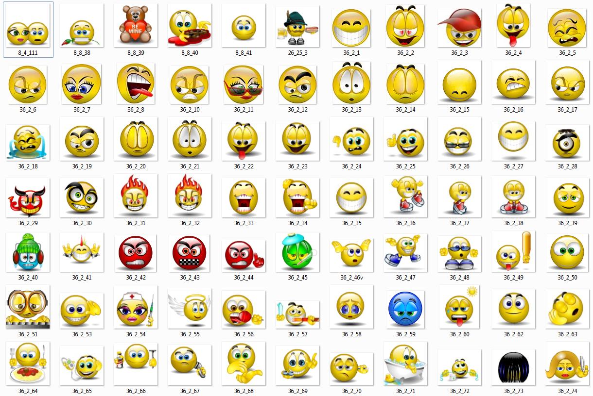 Картинки текстовых смайлов