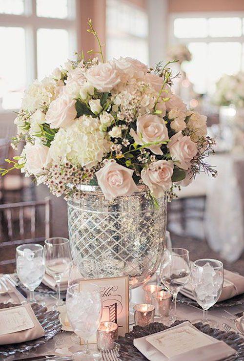 Centros de mesa para bodas rom nticos y con mucho for Decoracion boda romantica