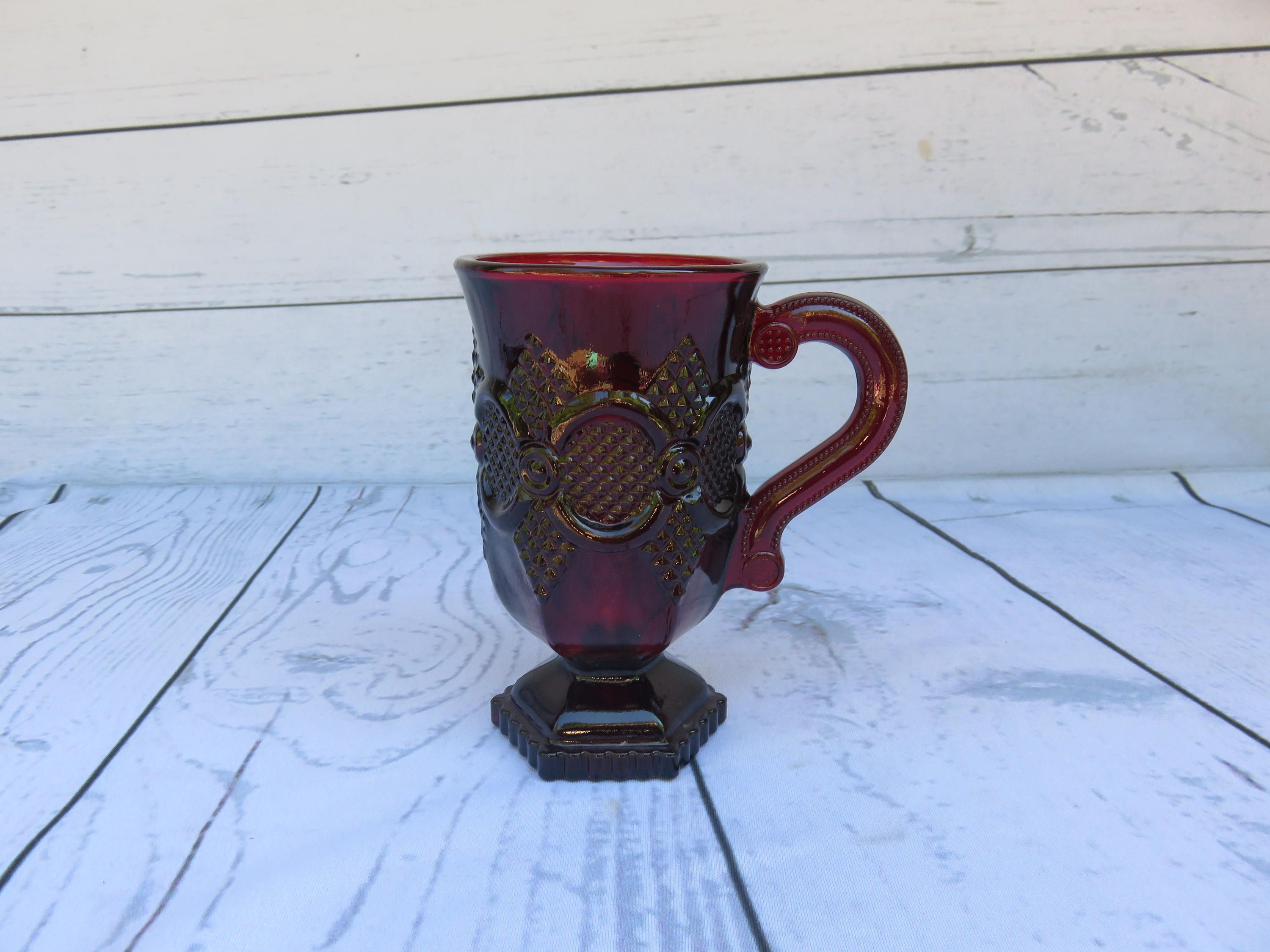 Avon Ruby Red 1876 Cape Cod Collection Footed Coffee Cup Coffee Cups Avon & Avon Ruby Red 1876 Cape Cod Collection Footed Coffee Cup Coffee ...