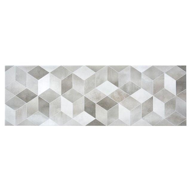 carrelage mural decor 3d gris 25 x 75