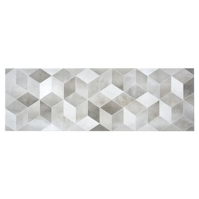 carrelage mural d cor 3d gris 25 x 75 cm izonso. Black Bedroom Furniture Sets. Home Design Ideas
