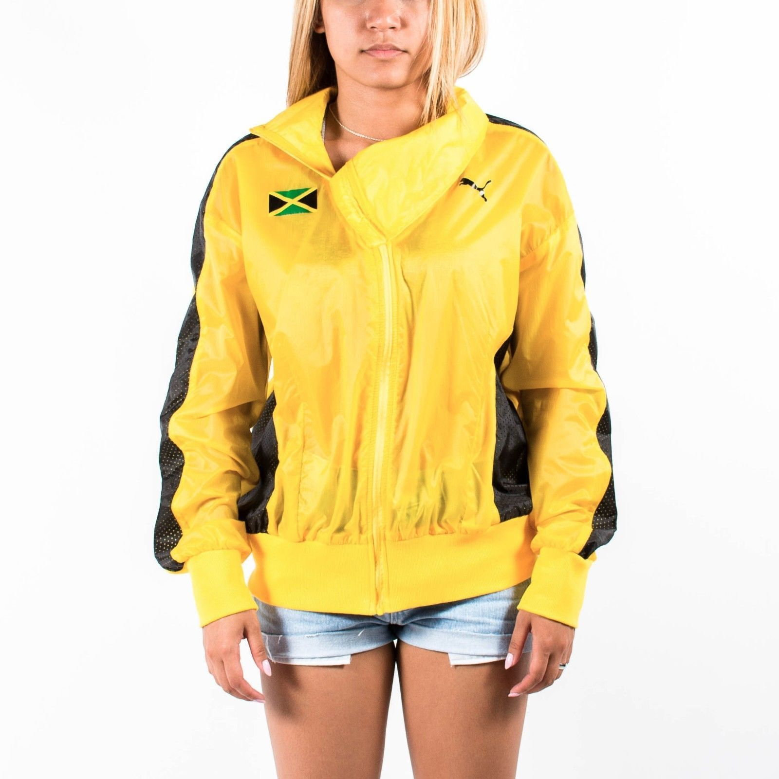 Puma Womens Riddim Podium Jacket Spectra Yellow 508933 01 Jamaica ...