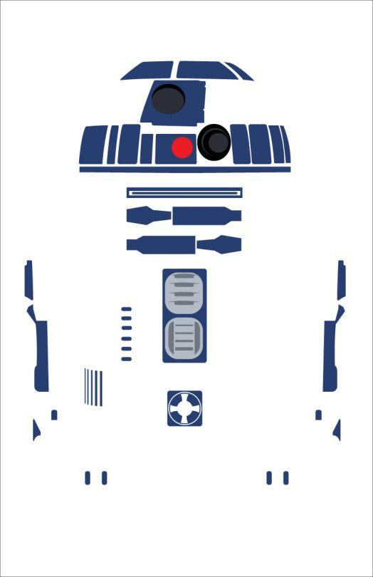 R2d2 Minimalist Illustration Starwars Illustration
