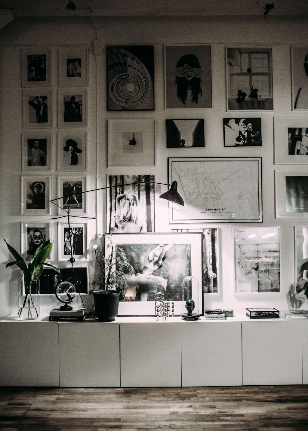 High ceilings = a giant gallery wall. Looking for unique art photos to create…