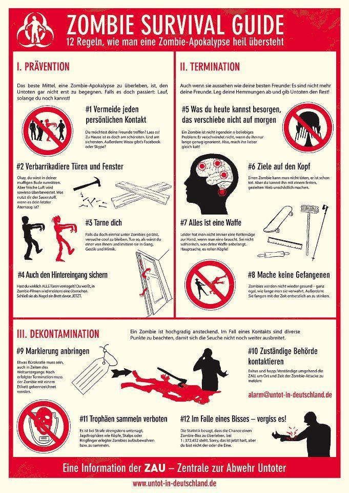 12 Regeln wie man eine #Zombie #Apokalypse übersteht http://untot-in-deutschland.de/