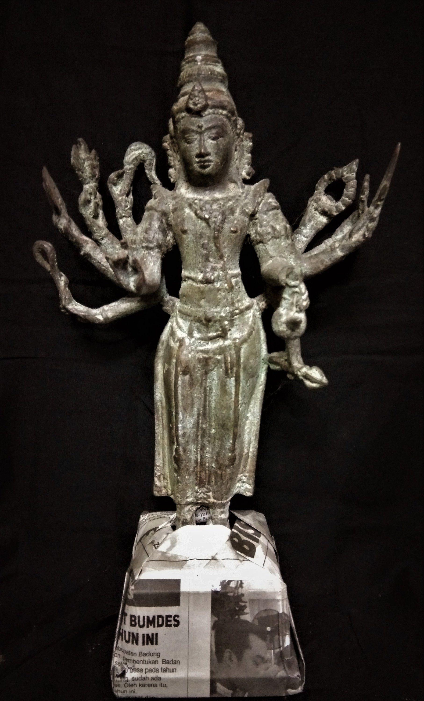 Durga statue parvati goddess multi hand 95 bronze brass