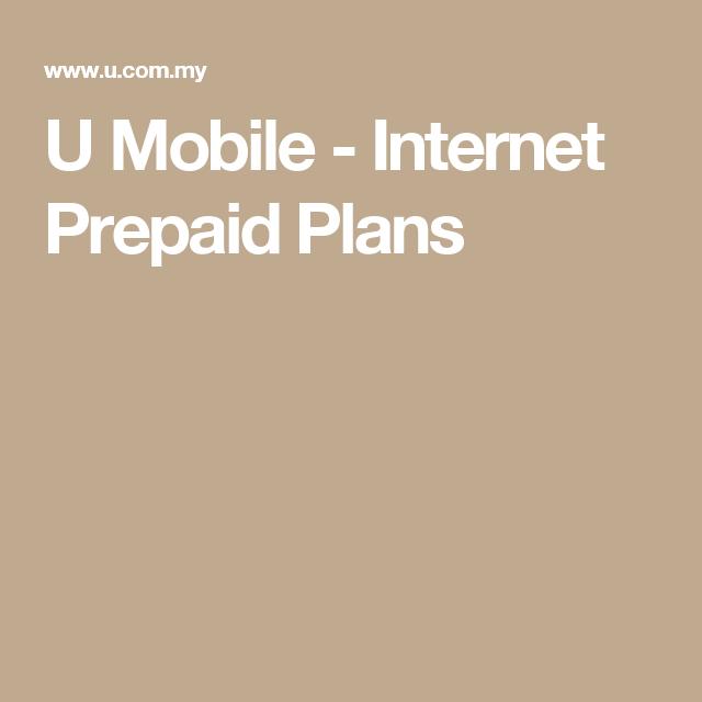 U Mobile - Internet Prepaid Plans | U mobile, How to plan ...