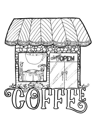 shops coloring pages - photo#32