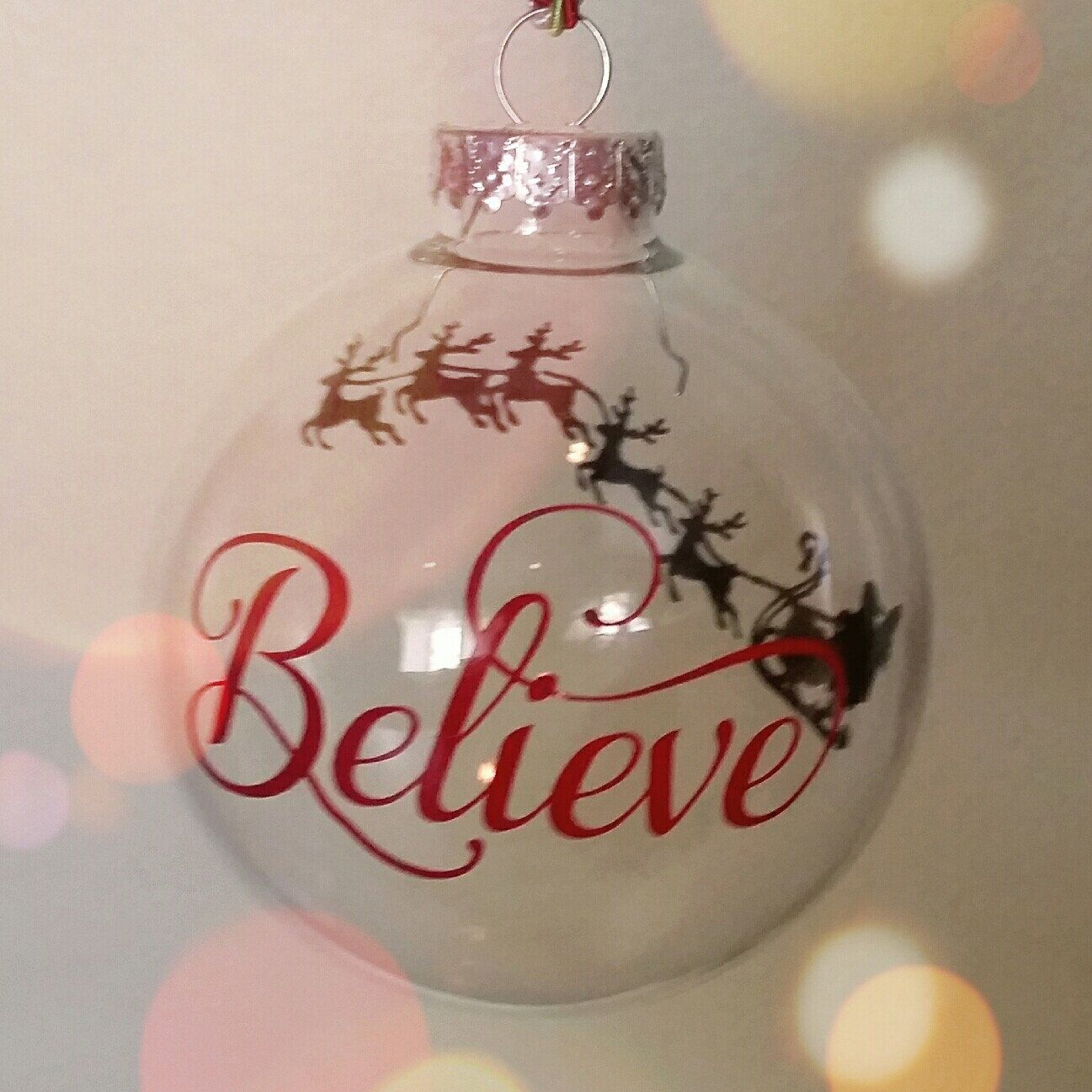 Believe In The Spirit Of Christmas With This Clear Glass Ornaments It Is One Of My Christmas Ornament Crafts Christmas Ornaments Christmas Ornaments Homemade