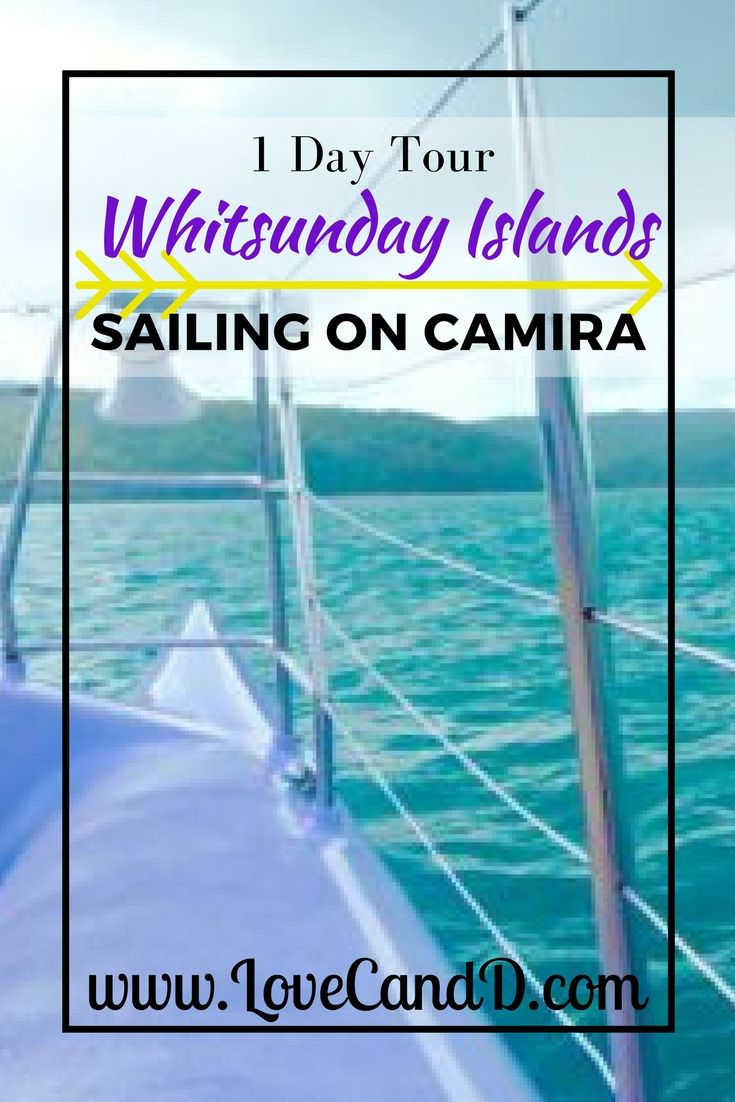 Sailing the Whitsundays on-board the catamaran Camira. Here's a review of the 1 day tour.