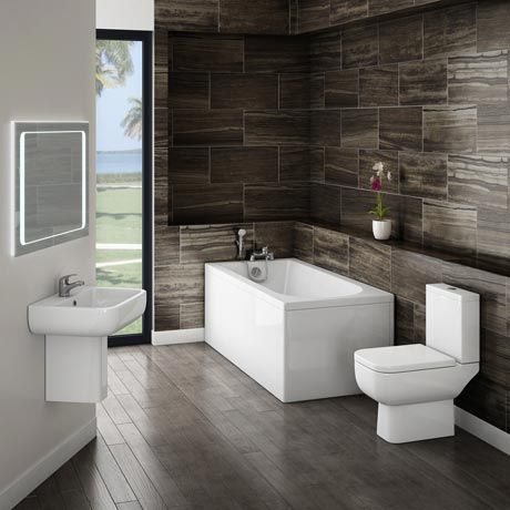 Small Modern Bathroom Suite X Mm Pinterest Modern - Designer bathroom suites