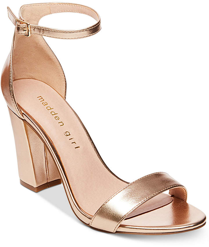 7cfca99166e Madden Girl Bella Two-Piece Block Heel Sandals - Gold 5M in 2019 ...