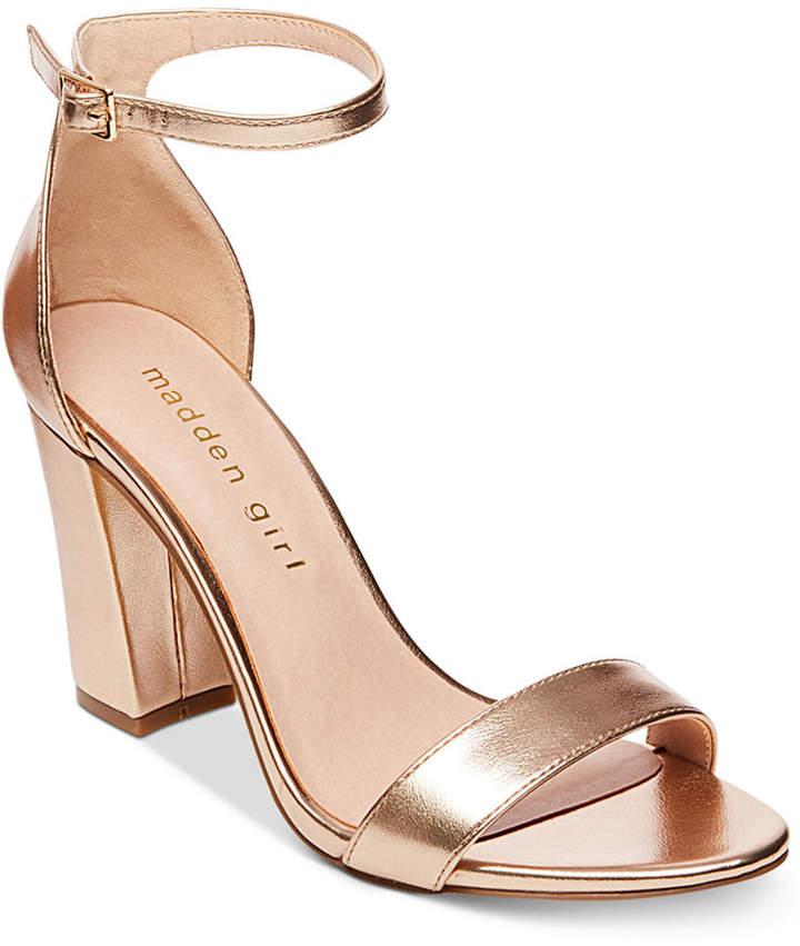 ee11e11dfc2d6e Madden Girl Bella Two-Piece Block Heel Sandals - Gold 5M in 2019 ...