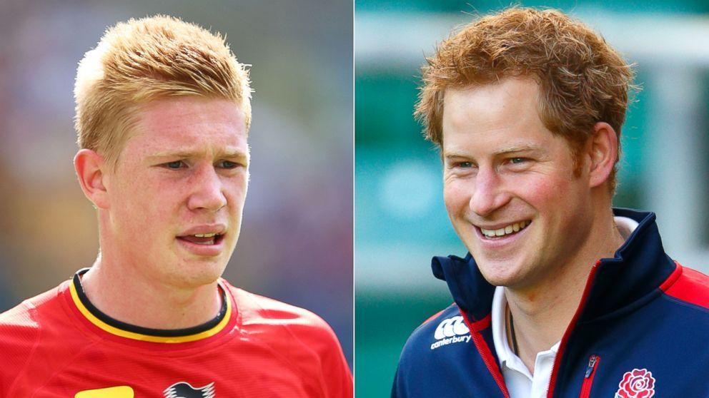 """La similitud de Kevin De Bruyne del equipo de Belgica con el príncipe Harry de Inglaterra es muy """"coincidencial""""...qué será? http://www.1502983.talkfusion.com/products/"""
